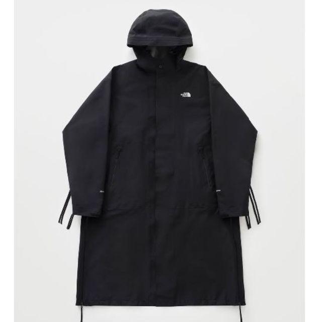 HYKE(ハイク)のHYKE x THE NORTH FACE 19AW  ロングコート 黒 M  メンズのジャケット/アウター(チェスターコート)の商品写真
