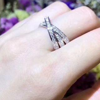 カルティエ(Cartier)のカルティエ トリニティフルダイヤリング 指輪(リング(指輪))