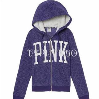 ヴィクトリアズシークレット(Victoria's Secret)のヴィクシー VS PINK ボア付き パーカー フーディ紫 パープル XS(パーカー)