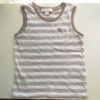 BURBERRY - バーバリー タンクトップシャツ4Y(中古品)