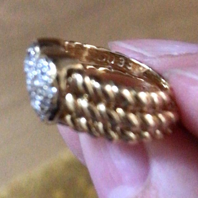 PonteVecchio(ポンテヴェキオ)の美品!K18 ダイヤモンドピンキーリング レディースのアクセサリー(リング(指輪))の商品写真