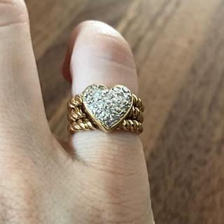 ポンテヴェキオ(PonteVecchio)の美品!K18 ダイヤモンドピンキーリング(リング(指輪))