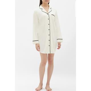 GU - ジーユーGU(ユニクロ)ルームウェア♡新品カットソーワンピースパジャマ長袖白色L