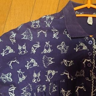 ポロシャツ シルバーラメ 水着柄 sizeフリー(ポロシャツ)