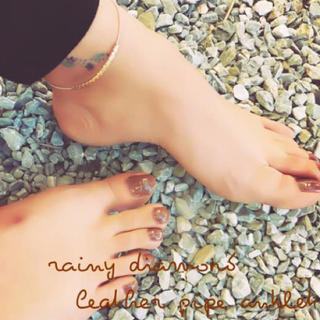 TODAYFUL - 残り4個♡leather pipe anklet♡