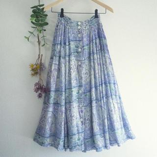 ロキエ(Lochie)のふんわり可愛いインド綿*ペイズリー柄スカート♡フォロ割-¥200♡(ロングスカート)