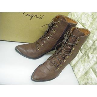 19408-9 UNGRID 革ブーツ ブラウン(ブーツ)