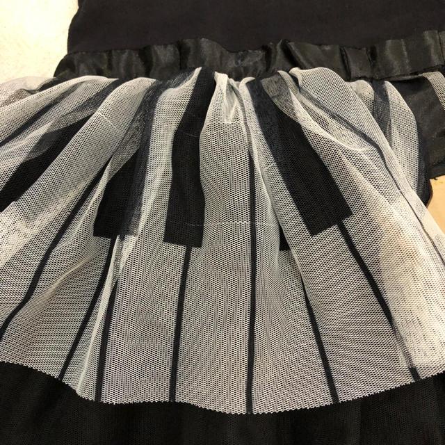 H&M(エイチアンドエム)のH&M ピアノ ドレス ハロウィン 110 ドレス キッズ/ベビー/マタニティのキッズ服 女の子用(90cm~)(ワンピース)の商品写真