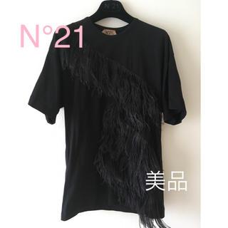 ヌメロヴェントゥーノ(N°21)の【n21 】 ヌメロベントゥーノ フェザー Tシャツ(Tシャツ(半袖/袖なし))