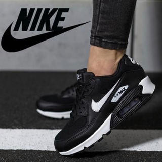 ナイキ(NIKE)のNIKE WMNS AIR MAX 90 BLACK/WHITE 25cm(スニーカー)