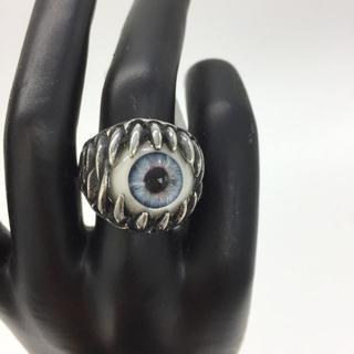 【30A】(20号)ファッションリング 目ん玉 眼球リング シルバー 目玉 指輪(リング(指輪))