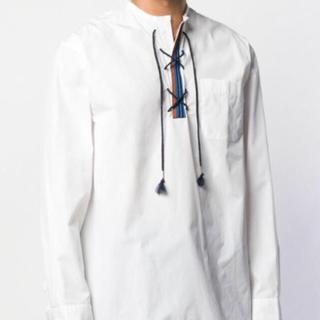 マルニ(Marni)の19SS   MARNI   レースアップシャツ    ホワイト   サイズ48(Tシャツ/カットソー(七分/長袖))