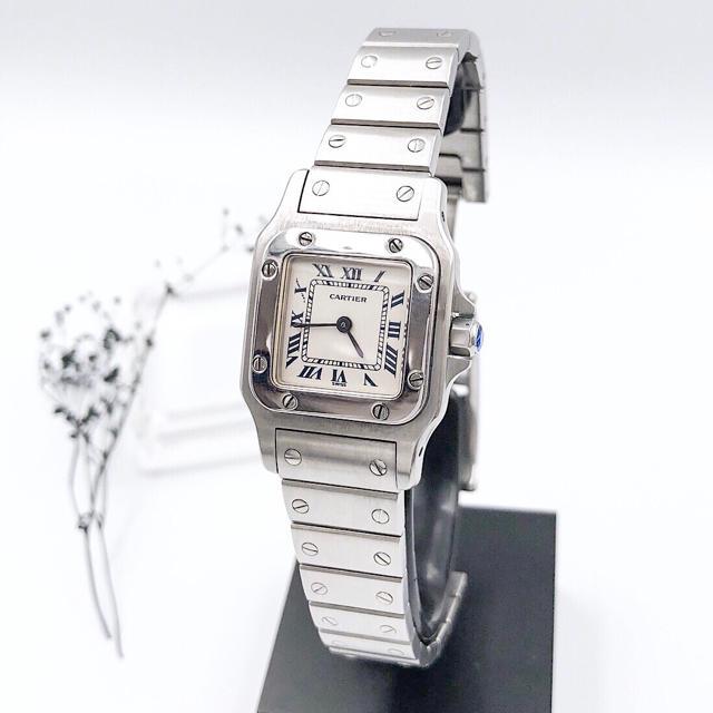Cartier - 【仕上済】カルティエ サントス ガルベ SM シルバー レディース 腕時計の通販 by LMC|カルティエならラクマ