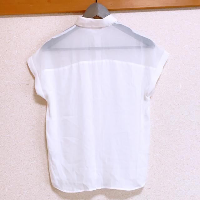 GU(ジーユー)のGU シースルーシャツ レディースのトップス(シャツ/ブラウス(半袖/袖なし))の商品写真