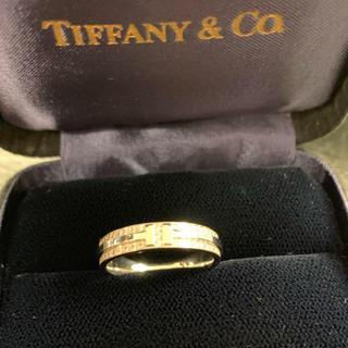 ティファニー(Tiffany & Co.)の未使用¥50万品★ティファニー★K18WG 2連パヴェダイヤ Tツーナローリング(リング(指輪))