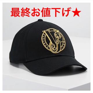 VERSACE - ヴェルサーチ キャップ 黒 ゴールド 帽子 クロムハーツ バレンシアガ