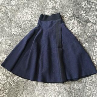 セリーヌ(celine)のCELINE セリーヌ 巻きスカート風ニットスカート S(ロングスカート)