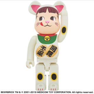 BE@RBRICK 招き猫ペコちゃん 1000% 白 ベアブリック メディコム(キャラクターグッズ)