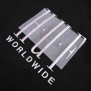 HUF - HUF*ハフ/US:XXL/[LINEAR]胸ロゴ刺繍クルー長袖Tシャツ