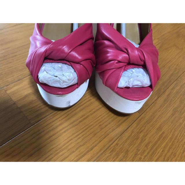 NINE WEST(ナインウエスト)のNINE WEST   chillpill  ピンクレザーヒール  24cm レディースの靴/シューズ(ハイヒール/パンプス)の商品写真
