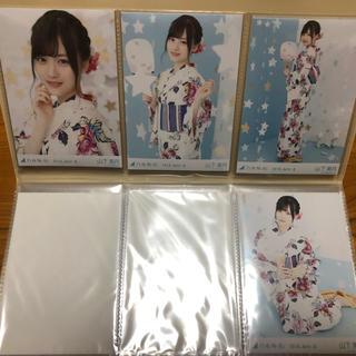 ノギザカフォーティーシックス(乃木坂46)の山下美月 浴衣 4種 生写真(アイドルグッズ)