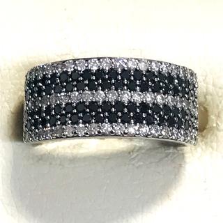 ☆K18WG ダイヤ&ブラックダイヤリング☆(リング(指輪))