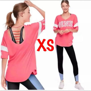 ヴィクトリアズシークレット(Victoria's Secret)のヴィクシー (XS) 体型カバー オーバーサイズ トップス Tシャツ ピンク(Tシャツ(半袖/袖なし))