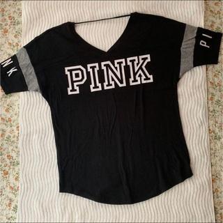 ヴィクトリアズシークレット(Victoria's Secret)のヴィクシー (S) 体型カバー オーバーサイズ トップス Tシャツ 黒(Tシャツ(半袖/袖なし))