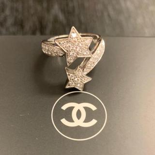 シャネル(CHANEL)の1.2回/¥97.8万品★シャネル★WG コメットダイヤリング パヴェダイヤ(リング(指輪))