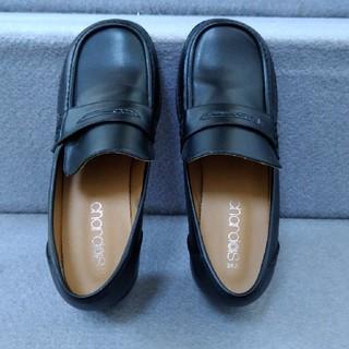アシックス(asics)の※使用回数1回「チャルダス」ローファー24センチ(ローファー/革靴)
