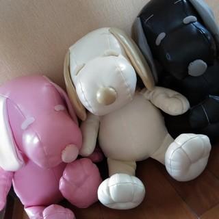 スヌーピー(SNOOPY)のスヌーピー レザー製 BIGぬいぐるみ(ぬいぐるみ)