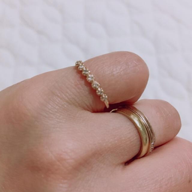 JILLSTUART(ジルスチュアート)のJILL STUART ダイヤモンドピンキーリング レディースのアクセサリー(リング(指輪))の商品写真