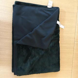 ムジルシリョウヒン(MUJI (無印良品))の無印良品   片面フリース毛布  新品  シングル  グリーン(毛布)