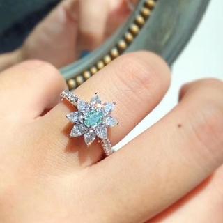 GIA♡Flowers L.Greenダイヤモンドリング(リング(指輪))