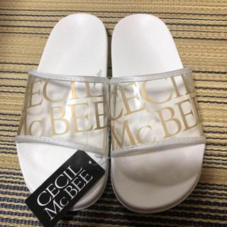 セシルマクビー(CECIL McBEE)の新品 CECIL Mc BEE シャワーサンダル Lサイズ(サンダル)