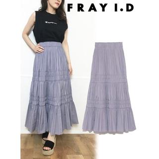 フレイアイディー(FRAY I.D)の新品未使用!FRAY I.D タフタギャザースカート(ロングスカート)