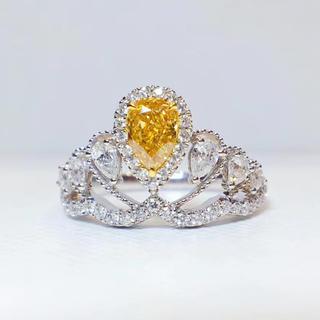 gia0.5ctファンシーインテェンスオレンジイエロー指輪(リング(指輪))