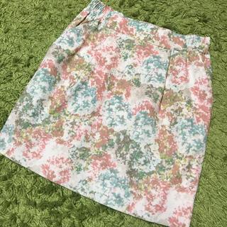 イエナスローブ(IENA SLOBE)のIENA SLOBE♡花柄スカート(ひざ丈スカート)