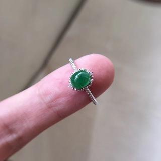 562 キャンペーンk18金リング ゴールド 楕円 黄翡翠リング ダイヤモンド(リング(指輪))