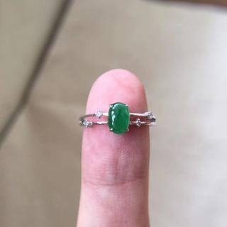 564 キャンペーンk18金リング ゴールド 楕円 黄翡翠リング ダイヤモンド(リング(指輪))