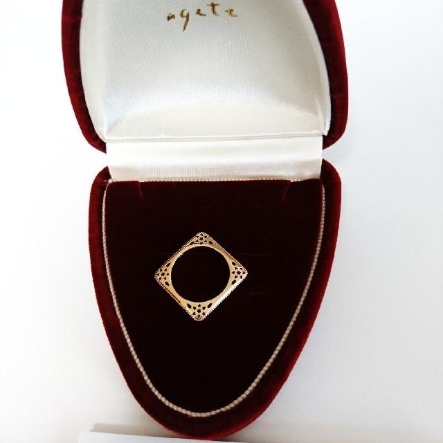 NOJESS(ノジェス)のノジェス K10 スクエア ピンキーリング チャーム レディースのアクセサリー(リング(指輪))の商品写真