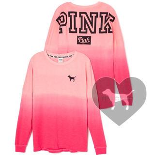 ヴィクトリアズシークレット(Victoria's Secret)の新品♡VS PINK♡チュニック丈のトップス 薄手のスウェット(トレーナー/スウェット)