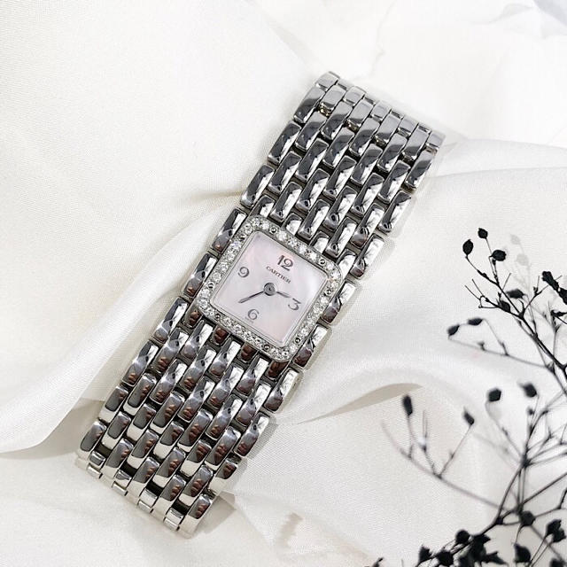 Cartier - 【OH済】カルティエ リュバン ダイヤ ピンク文字盤 レディース 腕時計の通販 by LMC|カルティエならラクマ