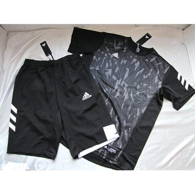 adidas(アディダス)の新品★adidas アディダス IMP-T、クロスハーフパンツ(O)黒★送料込 スポーツ/アウトドアの野球(ウェア)の商品写真