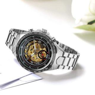 大人気 海外受賞スケルトン 腕時計 ゴールド、ブラック、シルバーの通販|ラクマ