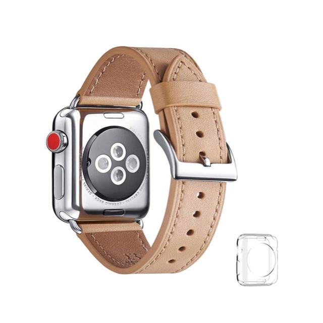 Apple Watch用 レザーバンド     アップルウォッチ用42 44mmの通販 by piii♡'s shop|ラクマ