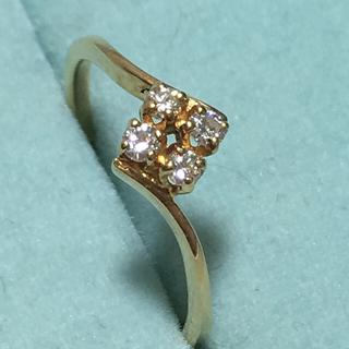ミキモト(MIKIMOTO)のミキモト K18 ダイヤ リング 極美品(リング(指輪))