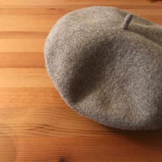 ムジルシリョウヒン(MUJI (無印良品))の無印良品 ベレー帽 ベージュ(ハンチング/ベレー帽)