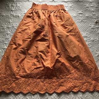 ユニクロ(UNIQLO)のユニクロ スカート オレンジ(ロングスカート)