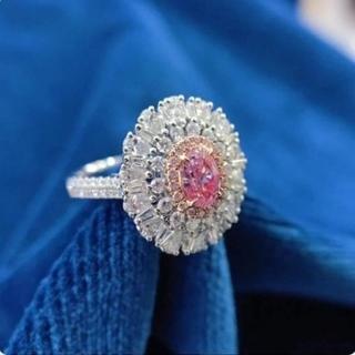 GIA♡オーバル L.Pinkダイヤモンドリング(リング(指輪))